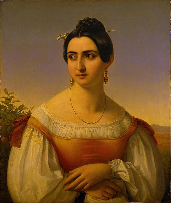 Portræt af modellen Fortunata Segatori fra Subiaco