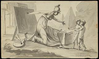 Minerva, malerkunsten og arkitekturen