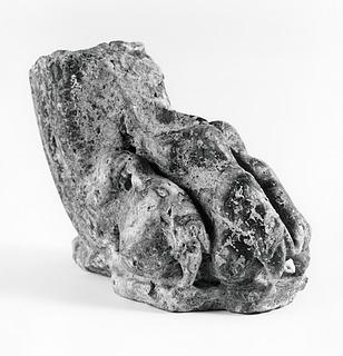 Bordben eller skulptur af en løve. Romersk