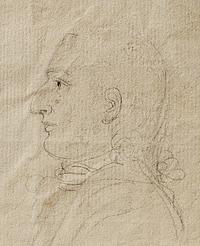 Profilportræt af en ung mand, arkitekten Carlo Francesco Bassi(?)