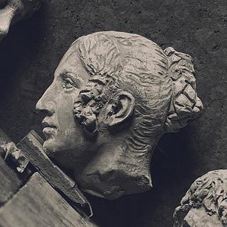 Hovedet af Christine Stampe