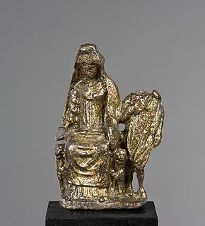 Kybele og Attis. Romersk statuette