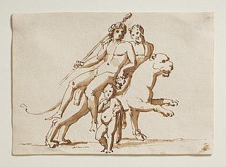 Bacchus på en tiger med en satyr, bacchusbarn