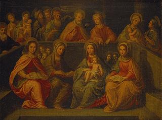 Jomfru Maria omgivet af sin slægt