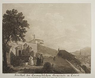Kirkegården i Triest med Julius (Giulio) Mylius' gravsted