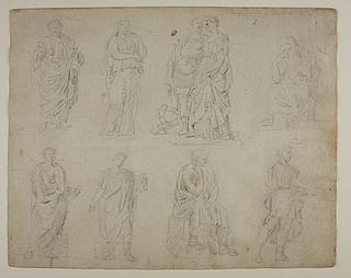 Siddende og stående figurer