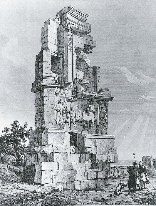 Andrea Gasparini: Philopappos Monumentet, 1843