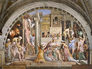 Raffaello Sanzio: Branden i Borgo, 1514 (Public domain)