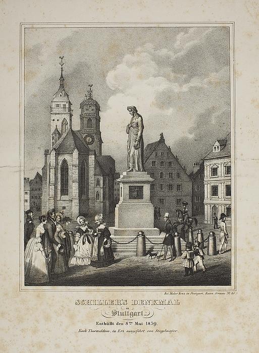 Monument over Friedrich Schiller i Stuttgart
