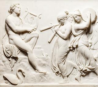 Detalje af Musernes dans på Helikon - Copyright tilhører Thorvaldsens Museum