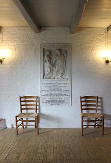 H.W. Bissen: Gravmæle over H.F.J. Estrup, 1847-49, marmor, Undløse kirke