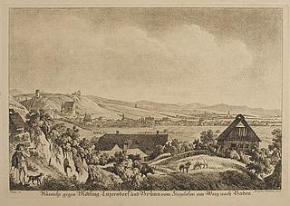 Aussicht gegen Mödling, Enzersdorf und Brünn von Ziegelofen am weg nach Baden
