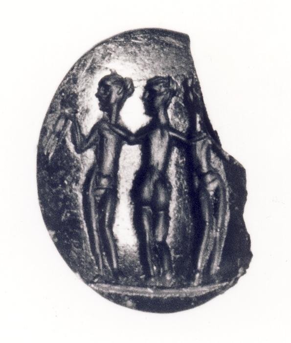 De tre gratier. Hellenistisk-romersk ringsten